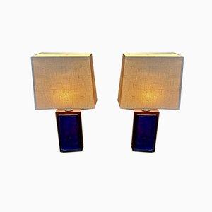 Scandinavian Rosewood Table Lamps, 1950s, Set of 2