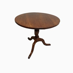 Antique Round Oak Side Table