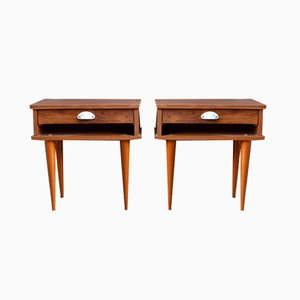 Tables de Chevet Scandinaves, Set de 2