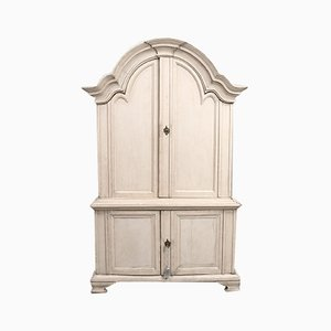 Gustavian Wardrobe with Paintings, 1825