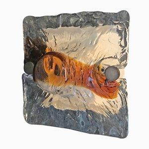 Small Wall Lamps by Toni Zuccheri for Venini, Set of 2
