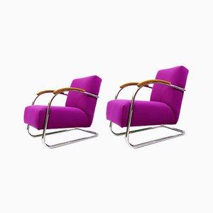 Art Deco FN 21 Armchairs by Mücke & Melder for Thonet, Set of 2