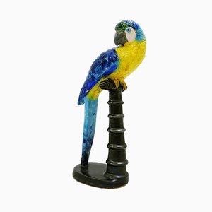 Papagei aus Keramik von Lucien Neuquelman