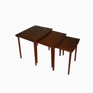 Tables Gigognes en Teck de Mobelintarsia, 1960s, Set de 3
