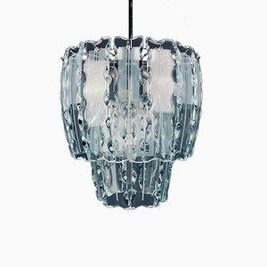 Mid-Century Art Glass Chandelier by Zero Quattro for Fontana Arte, Italy, 1960s