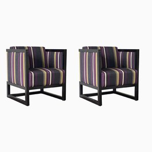 Chairs in the Style of Josef Hoffmann, Austria, 1980s, Set of 2