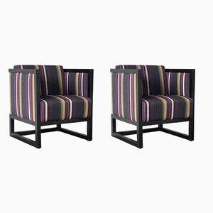 Stühle im Stil von Josef Hoffmann, Österreich, 1980er, 2er Set