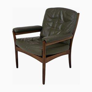 G-Mobel Sessel aus grünem Leder von Göte Möbler, Schweden, 1970er