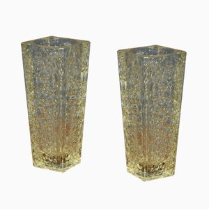 Asteroid Vases by Jan Sylwester Drost for Hortensja Glassworks, Poland, Set of 2