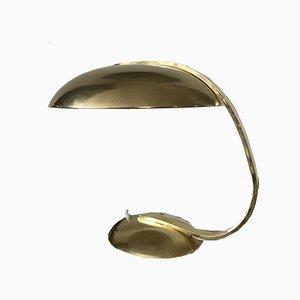 Lampe de Bureau Vintage en Laiton par Egon Hillebrand pour Hillebrand
