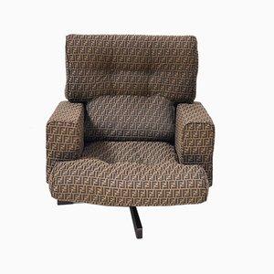 Chaise 401 en Tissu Fendi par Emilio Taro pour Cinova, 1960s