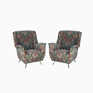 Chairs in 1980s Missoni Fabric from ISA Bergamo, 1950s, Set of 2