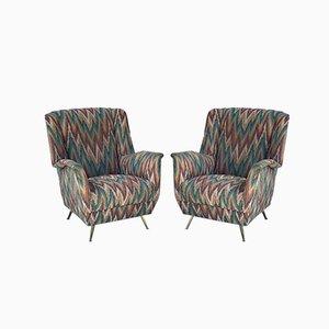 Stühle aus Missoni Stoff von ISA Bergamo, 1950er, 2er Set