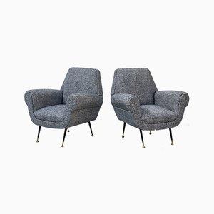Armchairs by Gigi Radice for Minotti, Set of 2
