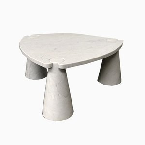 Eros Coffee Table in Carrara Marble by Angelo Mangiarotti for Skipper, Italy, 1970s