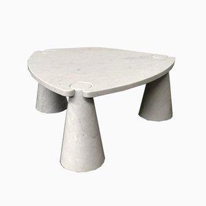 Table Basse Eros en Marbre de Carrare par Angelo Mangiarotti pour Skipper, Italie, 1970s