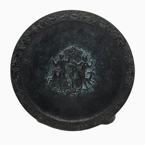 Bronze Plate Depicting Adam and Eve