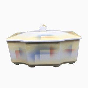 Art Deco Lidded Box with Spray Paint Decoration