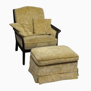 English Armchair with a Footrest