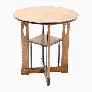Art Deco Oak Coffee Table, 1930s