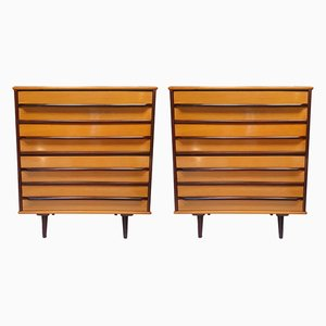 Tall Brazilian Chests of Drawers from Móveis Cimo, 1950s, Set of 2