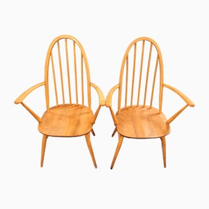 Windsor Quaker Carver Chairs by Lucian Ercolani for Ercol, Set of 2