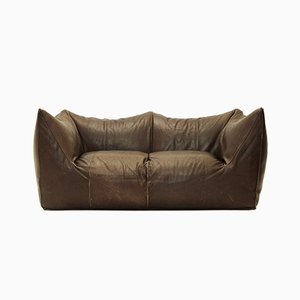 Le Bambole Leather Sofa by Mario Bellini for B&B Italia, 1970s