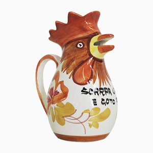 Rooster-Shaped Jug from Bassano, 1970s