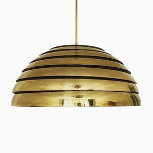 Große Messing Lampe von Vereinigte Werkstätten, 1960er