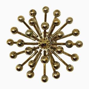 Goldene Pistillo Wand- oder Deckenlampe von Studio Tetrarch für Valenti Luce, 1960er