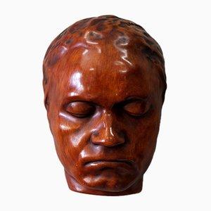 Mid-Century Wandmaske von Peter Ludwig für Achatit Werkstätten, 1960er