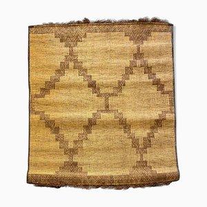 Handgewebte mauretanische Schilf & Leder Matte