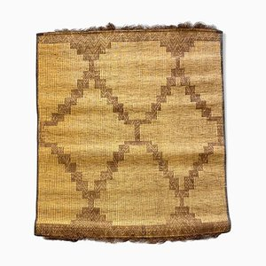 Mauritanian Handwoven Reed & Leather Mat