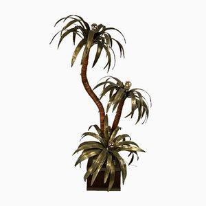 Brass Palm Tree Lamp from Maison Jansen, 1960s