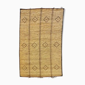 Mauritanian Mat in Leather and Reeds of 115 x 190 cm