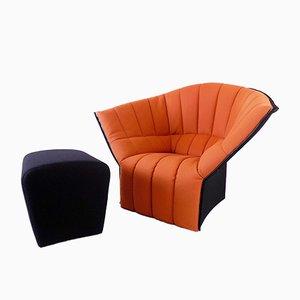 Moel Chair mit Ottomane von Inga Sempé für Ligne Roset, 2er Set