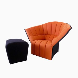 Moel Chair with Ottoman by Inga Sempé for Ligne Roset, Set of 2