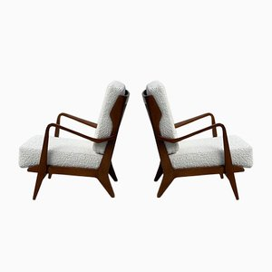 Model 516 Armchairs Attributed to Gio Ponti, Set of 2