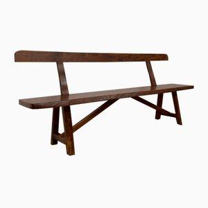Large Brutalist Bench in Solid Elm