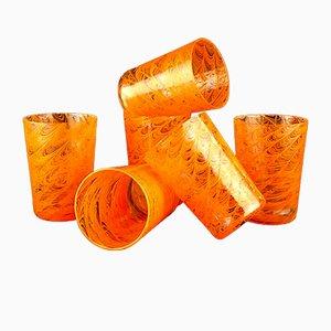 Murano Glasses Orange Mystery von VRM, 6er Set