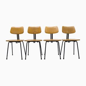 Art Deco Architect's Chair from Ama Elastik, 1950s, Set of 4