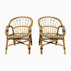 Chairs in Rattan, 1970s, Set of 2