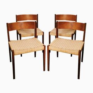 Stühle von ISA Bergamo, 4er Set