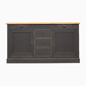 Antique Wooden Workshop Counter or Sideboard