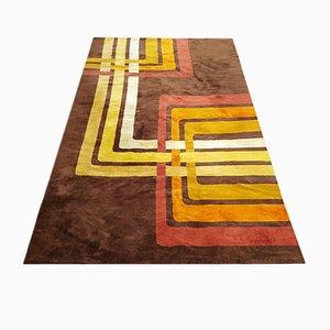 Space Age Geometric Wool Rug, Italy, 1970s