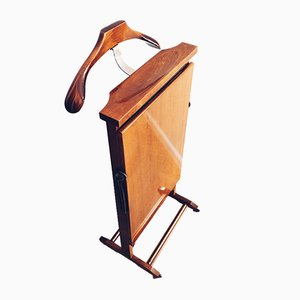 Vintage Italian Valet Stand with Trouser Press by Fratelli Reguitti, 1950s