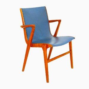 Scandinavian Desk Chair in Beech, Sweden, 1950s