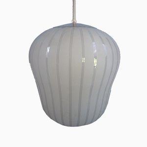 Big Modernistic Glass Pendant, Sweden, 1930s