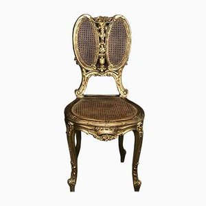 Napoleon III Chair in Cane and Carved & Gilded Beech