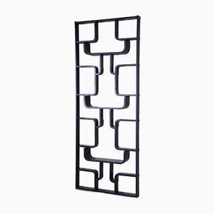 Black Room Divider Wall Unit by Ludvik Volak for Drevopodnik Holesov, 1960s